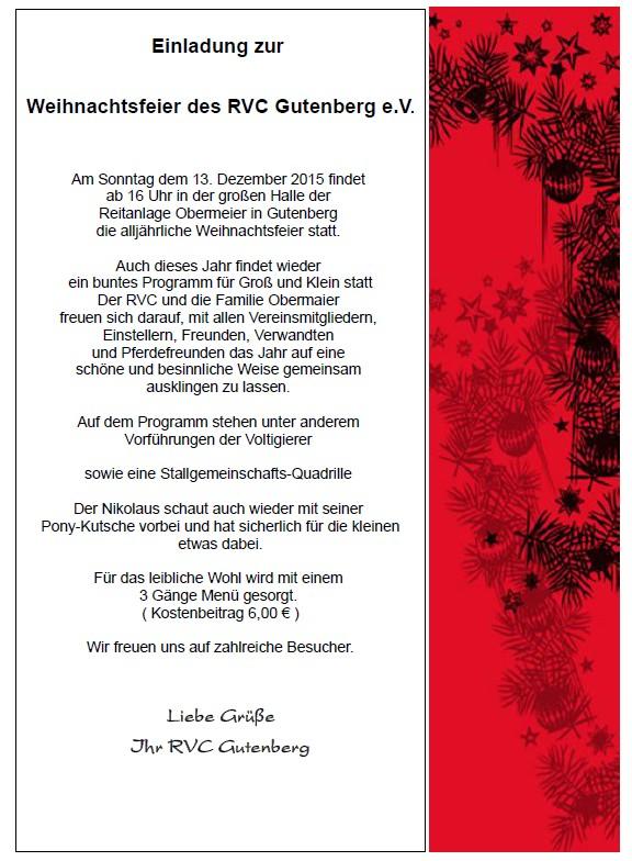einladung weihnachtsfeier